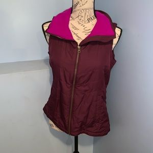 Columbia sportswear outer vest small pink/purple